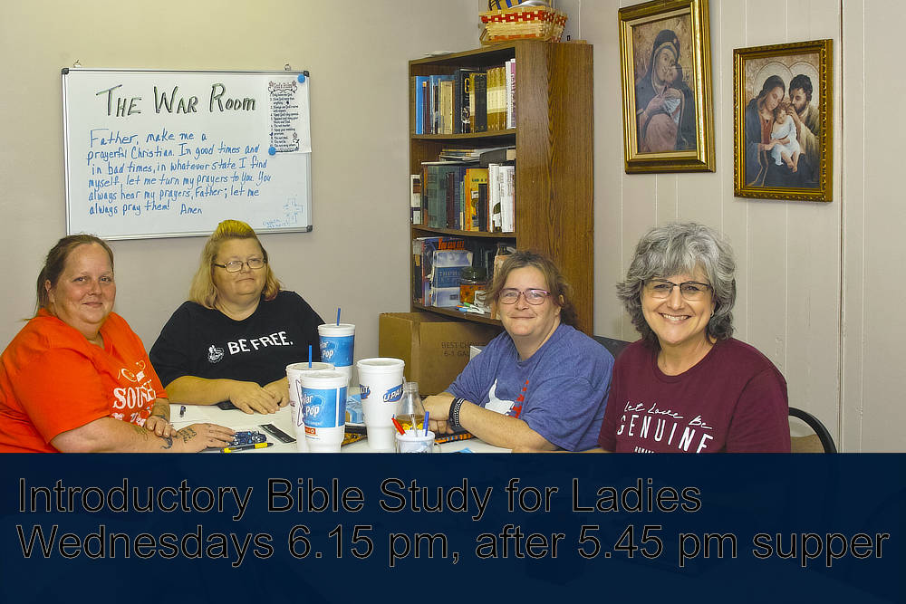 Faith Community of Hope Church holds Introductory Bible Study classes for ladies on Wednesday evenings after the 5.45 supper, usually at 6.15 pm.